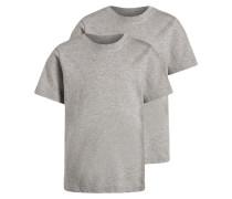2 PACK Unterhemd / Shirt light heather grey