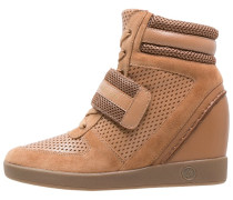 Sneaker high camel/tannin