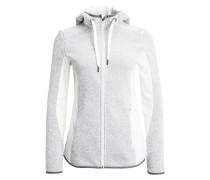 Fleecejacke light grey/white