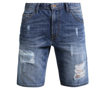 Jeans Shorts - destroyed mid stone wash