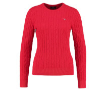 Strickpullover clear red