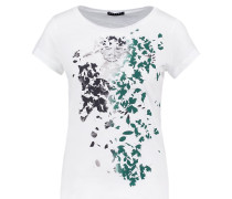 T-Shirt print - green leaves