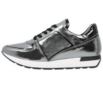 Sneaker low donker zilver