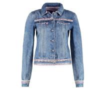 Jeansjacke blau/rosa