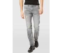 Jeans Slim Fit bleached light grey denim