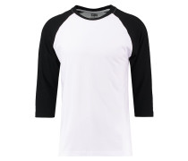 Langarmshirt white/black