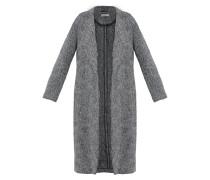 Wollmantel / klassischer Mantel schwarz/offwhite