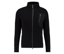 GRINDER Strickjacke carbon