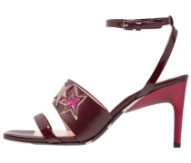 STELLA - High Heel Sandaletten - bordo