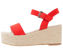 Plateausandalette - red