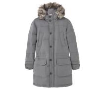 WOOL Daunenmantel medium heather grey