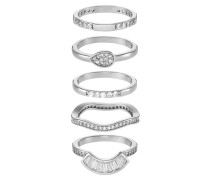GALIRAWIA 5 PACK - Ring - silver-coloured