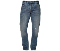 Jeans Straight Leg - dirty oil blue