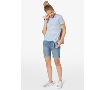 LINA - Jeans Shorts - mid stone wash denim
