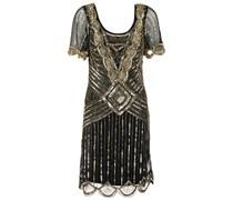 AUDREY Cocktailkleid / festliches Kleid black/gold