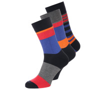 3 PACK Socken black/grey/orange/blue