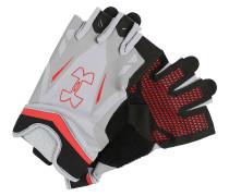 FLUX Kurzfingerhandschuh steel/red