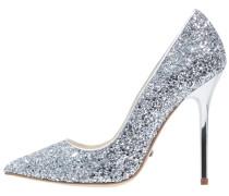 High Heel Pumps - glitter silver