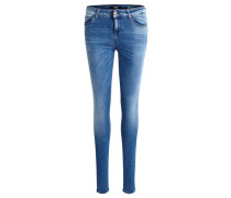 OBJSKINNYSALLY Jeans Skinny Fit dark blue denim