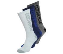 3 PACK Socken white/black /blue