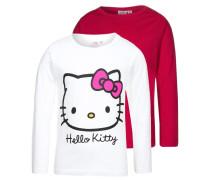 2 PACK Langarmshirt white/pink