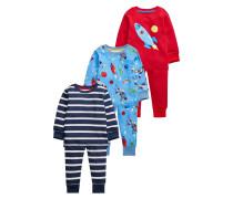 3 PACK Pyjama red