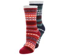 CHRISTMAS 2 PACK - Socken - red