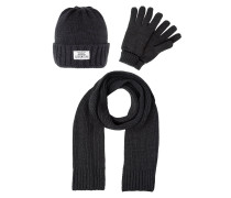 SET Mütze dark grey