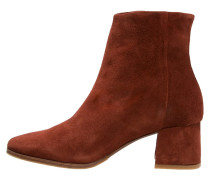 JEAN Stiefelette dark red rust