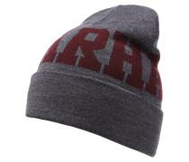 Mütze dark grey heather/chianti