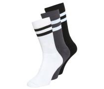 Socken black/white/grey