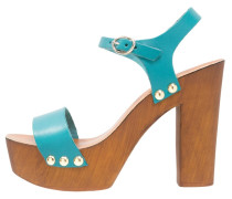 Plateausandalette turquoise