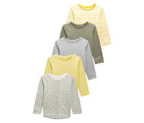 5 PACK Langarmshirt yellow