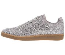 Sneaker low glitter prata
