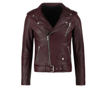 ROCKER Lederjacke bordeaux