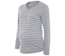 PHILINE Nachtwäsche Shirt grey melange italy