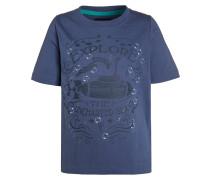 TShirt print jeansblau