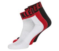 3 PACK Socken white/red/black