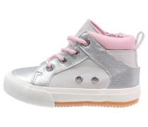 Sneaker high silver/beige