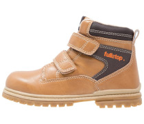 Stiefelette camel/dark brown