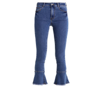 VIBELLAN - Flared Jeans - medium blue denim