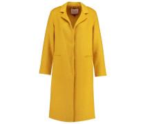 Wollmantel / klassischer Mantel mustard
