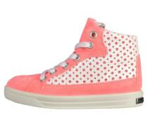 Sneaker high - neoncoral/white