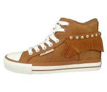 Sneaker high cognac