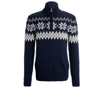 MYKING Strickpullover navy/off white/light charcoal