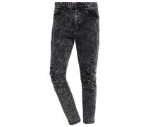 Jeans Slim Fit acid washed black