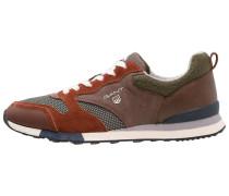RUSSELL Sneaker low dark orange/moss green