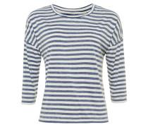 BOXY Langarmshirt blue/ecru