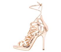 High Heel Sandaletten rosegold