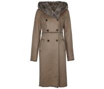 Wollmantel / klassischer Mantel sand